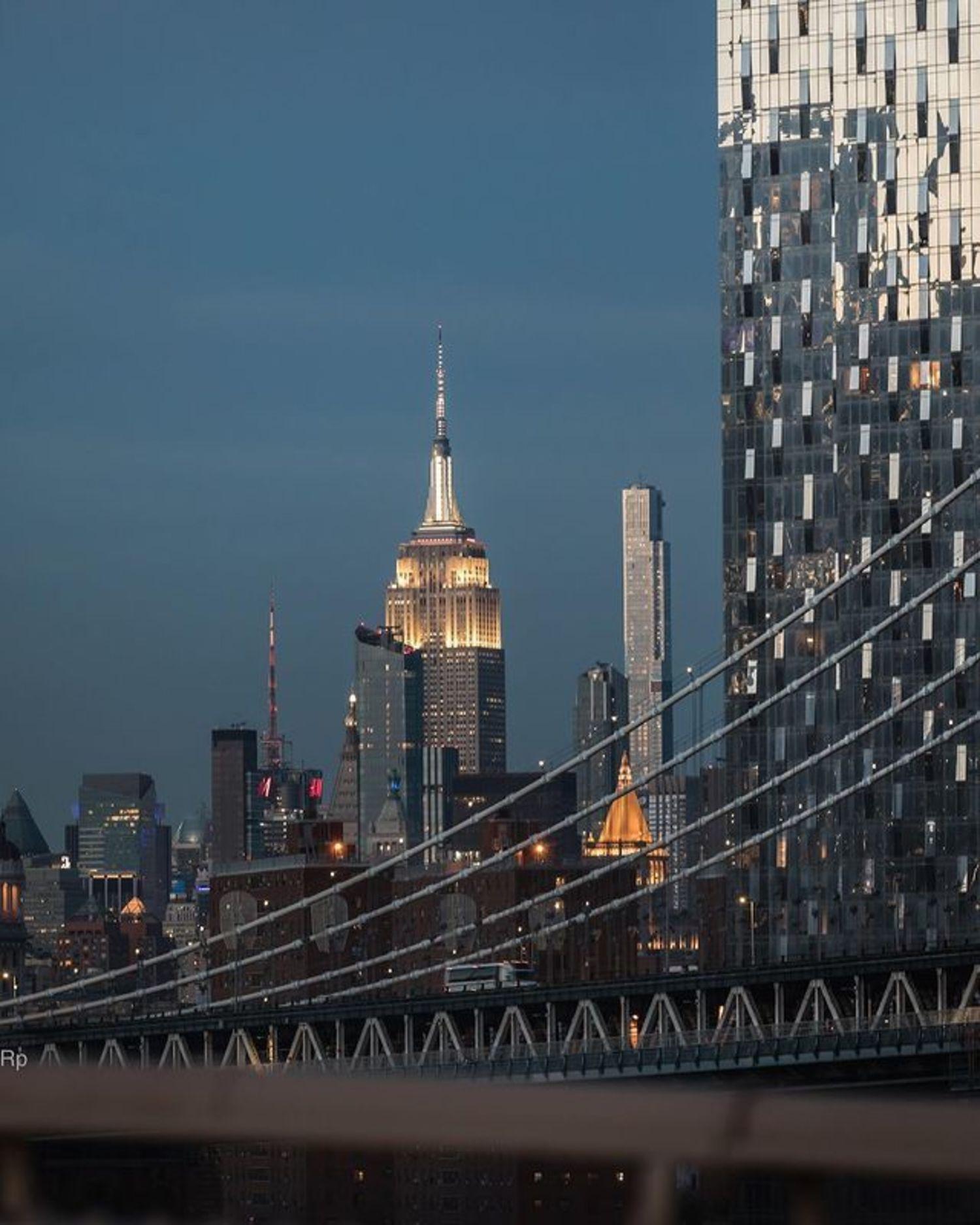 Midtown Manhattan Skyline from Manhattan Bridge, New York