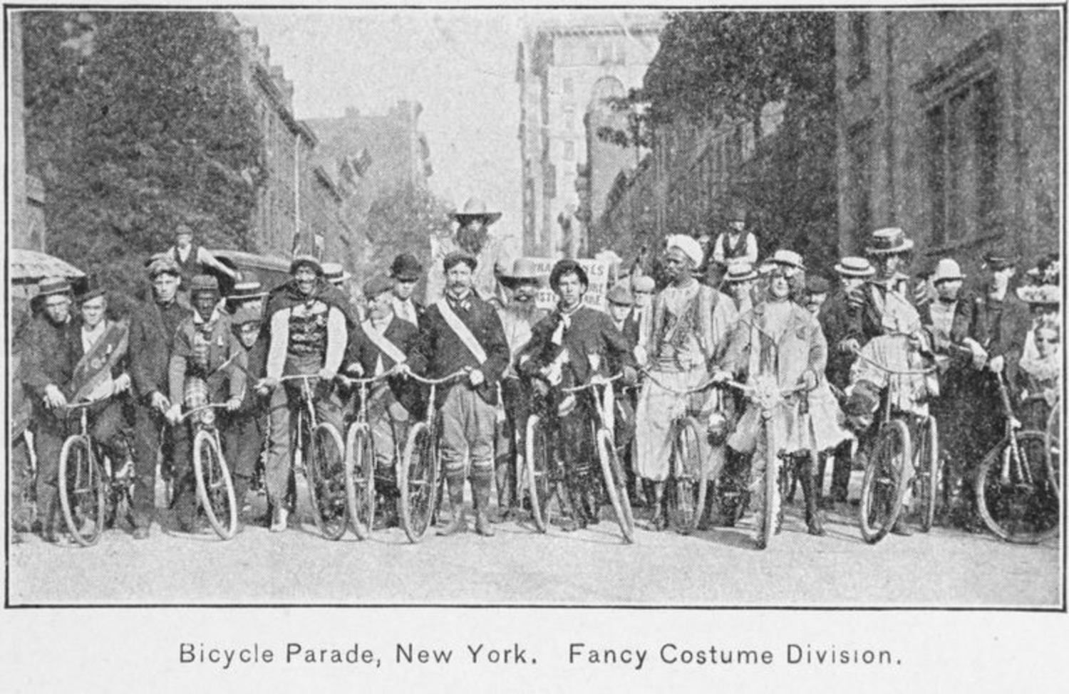 Bicycle Parade, New York; Fancy costume division.