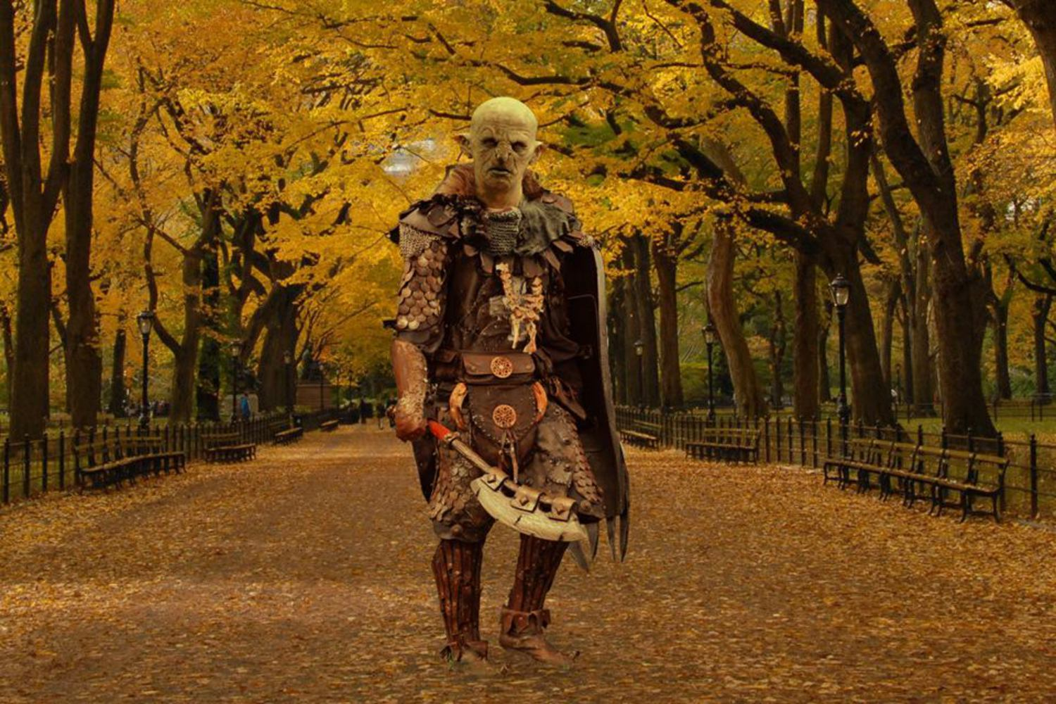 """I live in East New York and commute into Gorgoroth. I love my job. I design the war paint for Uruk chieftains. I might have the only artistic job in Mordor, except for maybe the Dark Lord's architect. But I think the Dark Lord designs his architecture himself."""