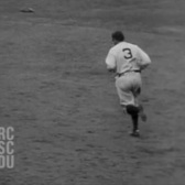 Apr. 14, 1931 - Babe Ruth's home run from the 7th inning (bad quality)