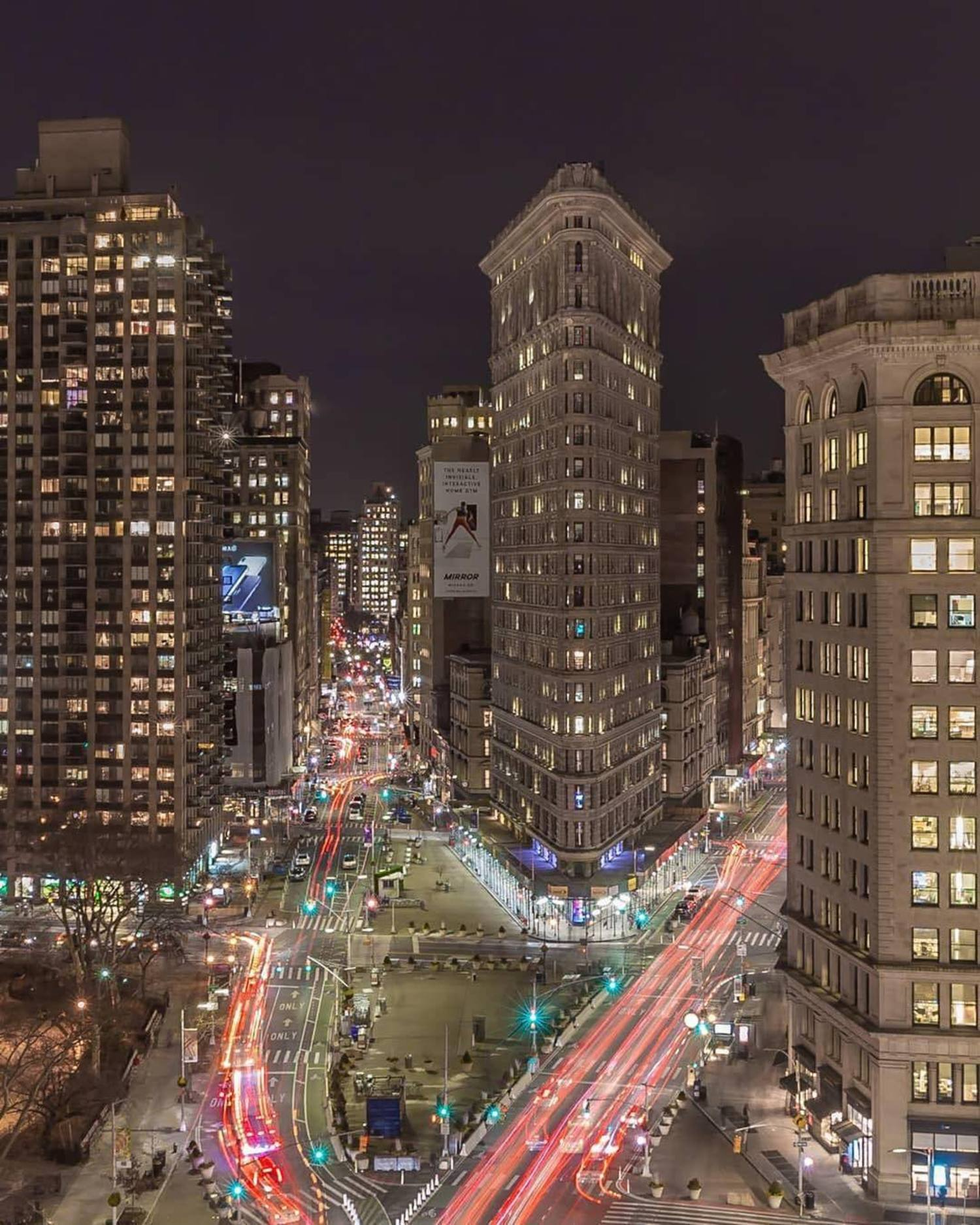 Flatiron District, Manhattan. Photo via @killahwave #viewingnyc #nyc #newyorkcity #newyork #flatironbuilding