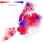 Heat Map of SAT scores in NYC [OC]