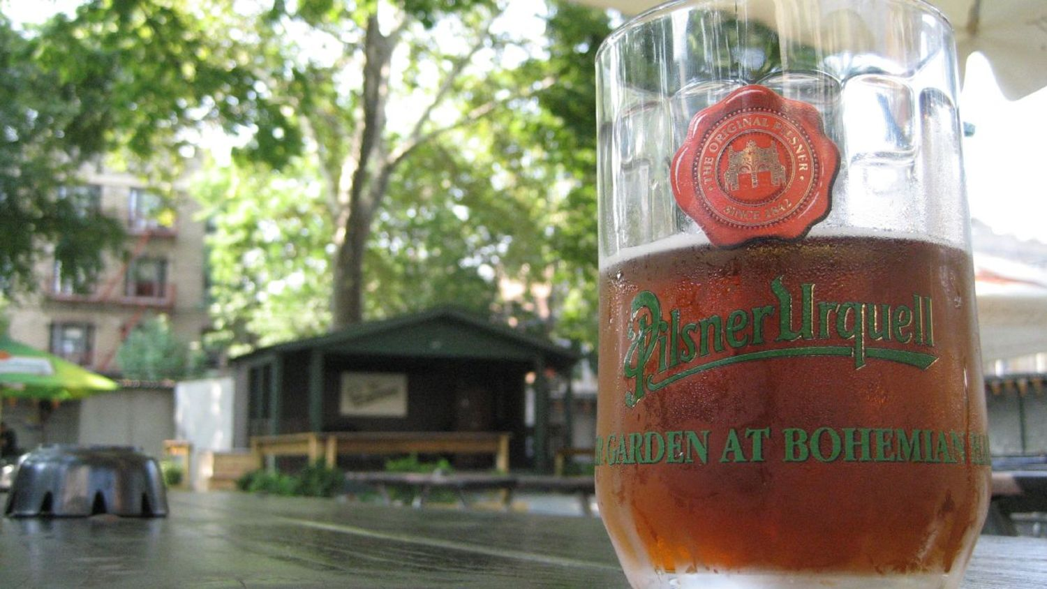 The Beer Garden at Bohemian Hall in Astoria, Queens