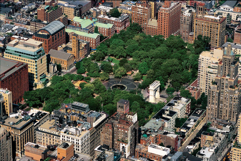 Washington Square Park in 1997.