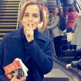 Emma Watson Leaves Inspiring Books In NYC Subway | What's Trending Now
