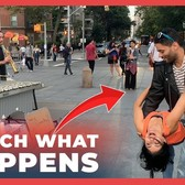 WATCH HOW Beautiful Couple Surprised Musician & Audience! (New York)