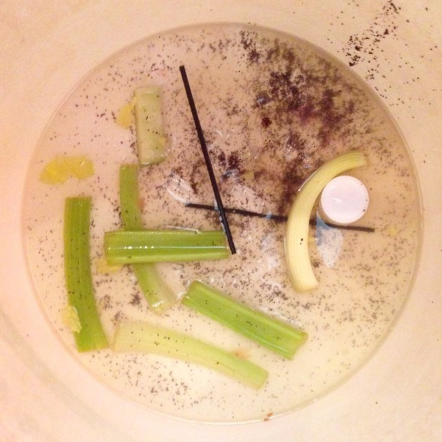 Slop Bucket series, brunch is the devil's meal, minimalist #slopart