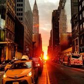 Sunrise on 42nd St. New York, New York. Photo via @qwqw7575 #viewingnyc #newyork #newyorkcity #nyc