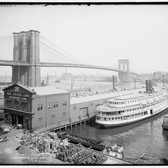 Brooklyn Bridge, New Haven Line, Chapin Steam Boat, 1905