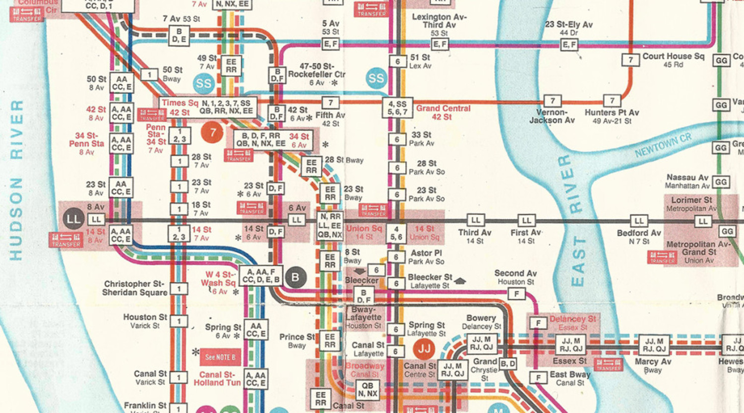 New York City Subway Map Design.Recently Restored New York City Subway Map May Vastly Improve Modern