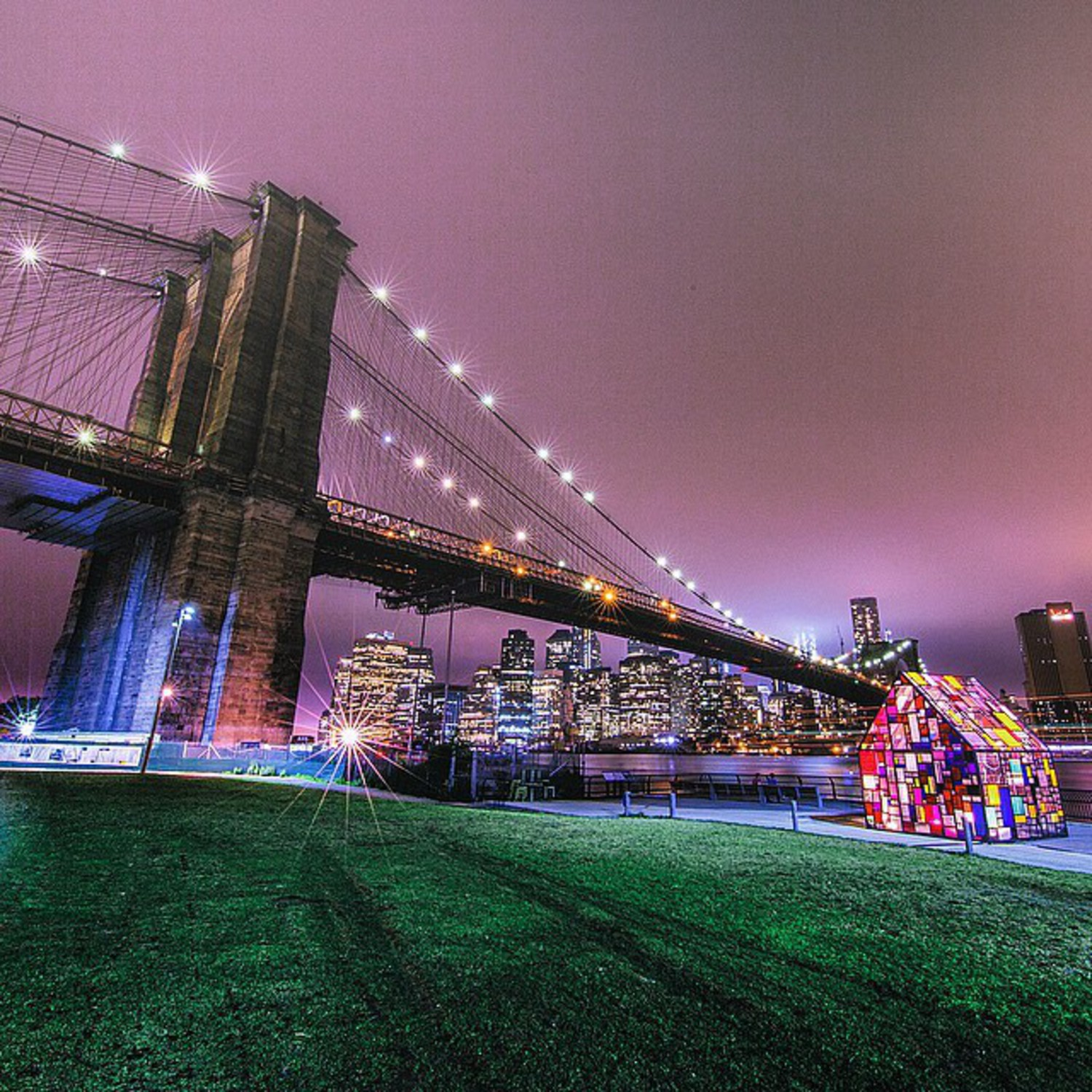 • Brooklyn Angles •  Thank you so much for all the wonderful comments on my last photo - it meant so much!! Thank you!  This was shot at Brooklyn Bridge park with some awesome photographers a few nights back! It's a classic shot of NYC and I had to have it in my portfolio of photos!! ✨