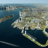 Rendering of Red Hook waterfront redevelopment.