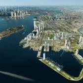 Rendering of Red Hook waterfront redevelopment.