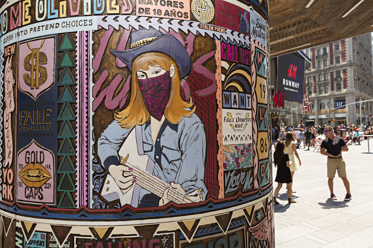 FAILE: Wishing on You | FAILE: Wishing on You August 17, 2015 - September 1, 2015  Brooklyn-based artist collaboration FAILE bring FAILE: Wishing on You, an installation reimagining Asian prayer wheels in the context of Times Square's kaleidoscopic history, to the Broadway plaza between 42nd and 43rd Streets.  Artists Patrick McNeil and Patrick Miller are using this piece, their largest to date, to re-imagine Times Square - a sacred American landscape known both for bright lights and the gathering of many communities.  In collaboration with Brooklyn Museum.    Photo courtesy of Ka-Man Tse for @TSqArts.