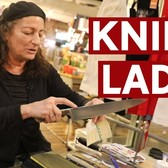 "How to properly sharpen your knives with ""Knife Lady of Chelsea Market"" 