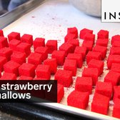 These are Valrhona strawberry marshmallows