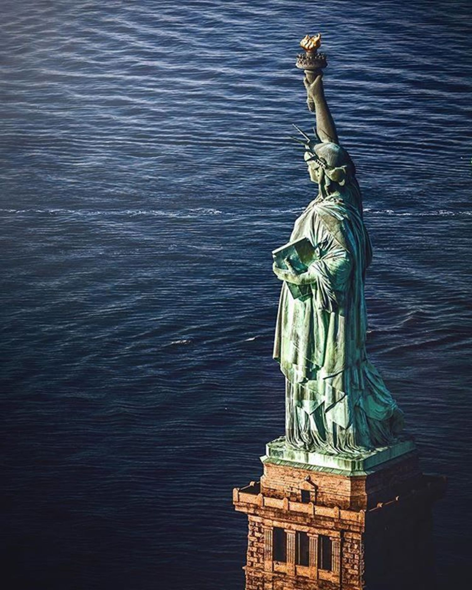 Statue of Liberty, New York, New York. Photo via @beholdingeye #viewingnyc #newyorkcity #newyork #nyc
