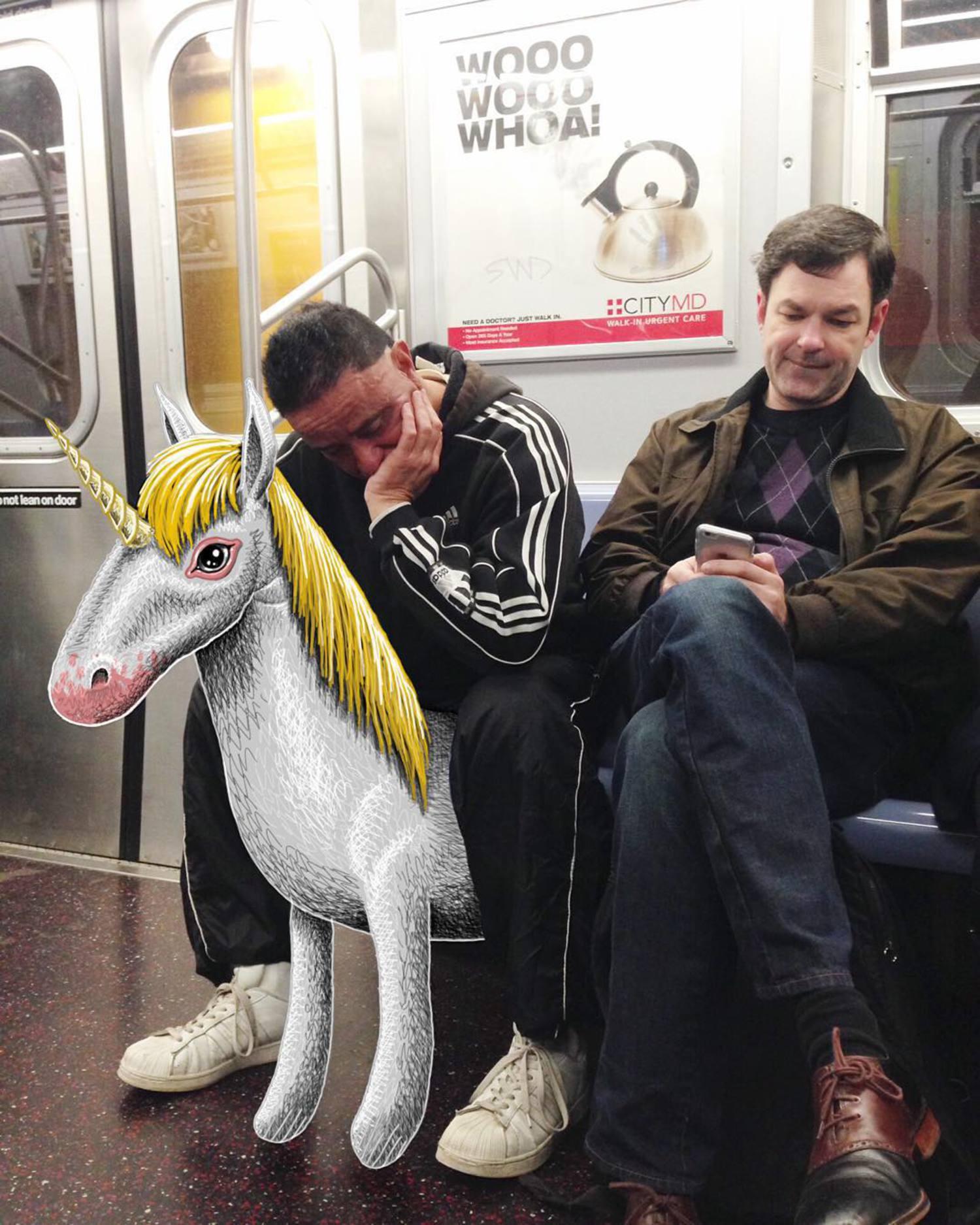 #subwaydoodle #subway #doodle #swd #nyc #unicorn #etiquette #manspreading #ridingtheunicorn