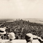 The opening day of the Empire State Building, 1931