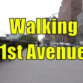 ⁴ᴷ Walking Tour of Manhattan, NYC - 1st Avenue from 59th Street to Houston Street (GPS Overlay)
