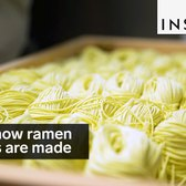 This is how ramen noodles are made