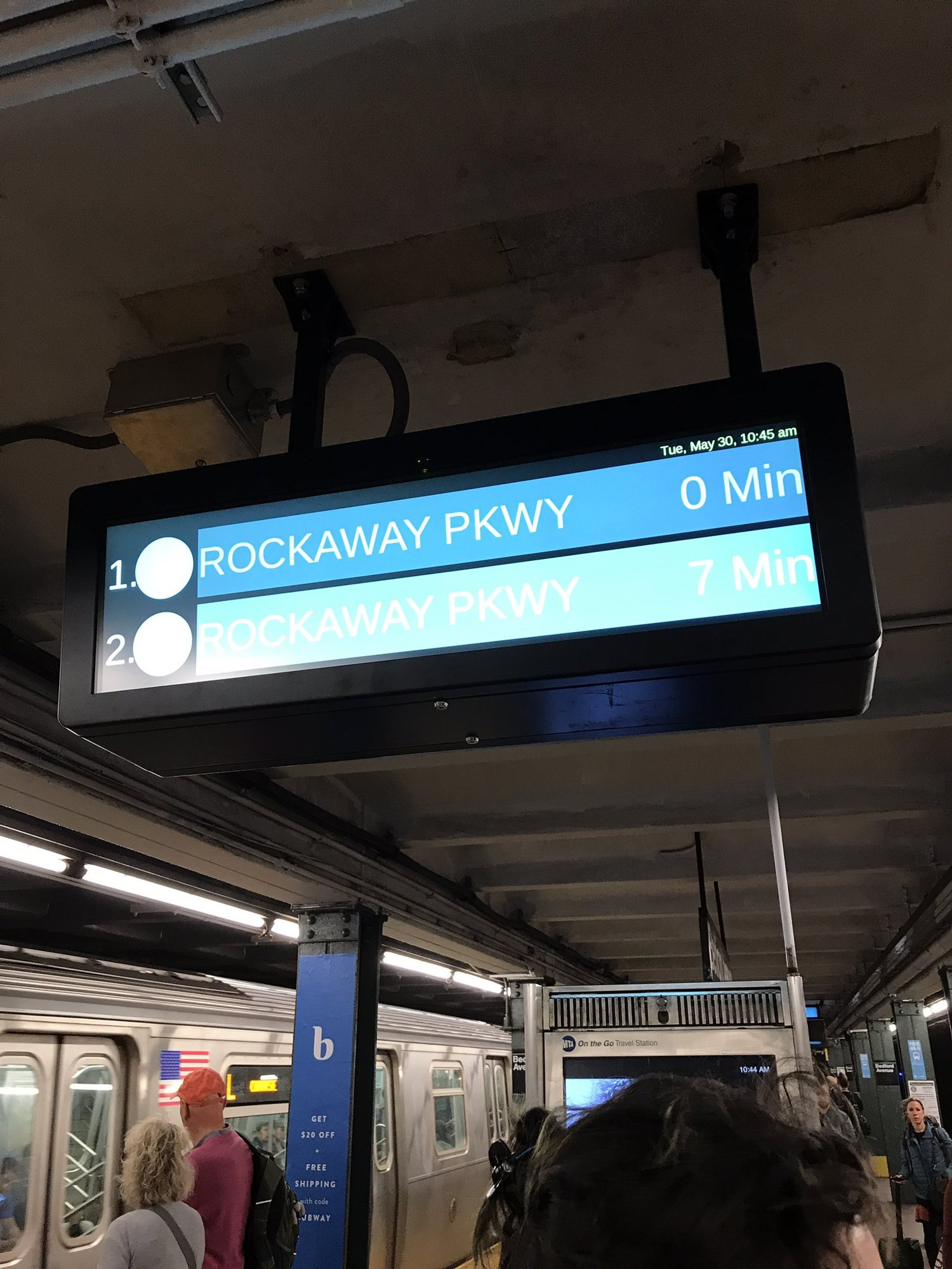 While the lettered lines are waiting for countdown clocks, do the L train stations really need theirs replaced already?