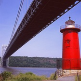 Little Red Lighthouse and George Washington Bridge
