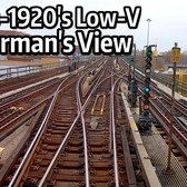 ⁴ᴷ Motorman's Point of View - 1910s Low-V from Grand Central to Woodlawn and Back
