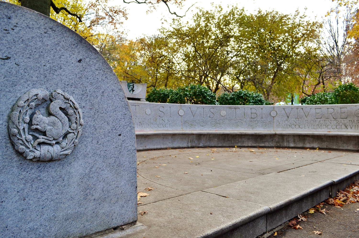 Waldo Hutchins Bench, Central Park, New York, New York
