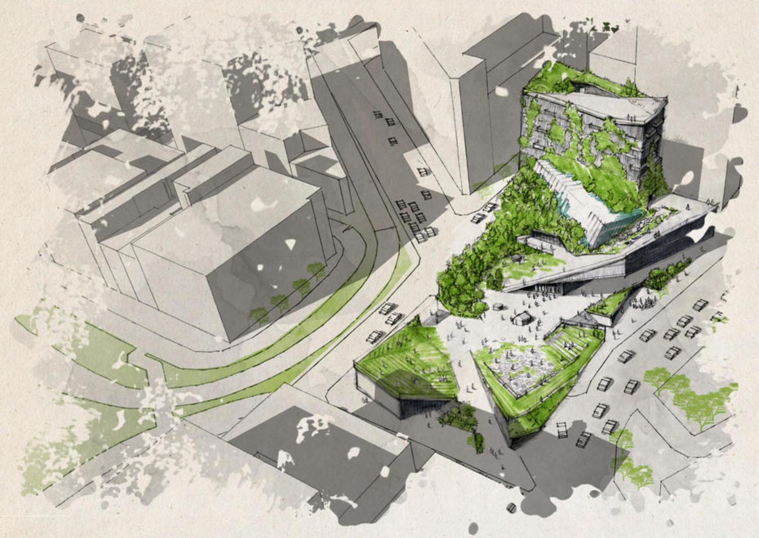 Illustration from RISD student Erin Graham's proposal for the future Climate Museum
