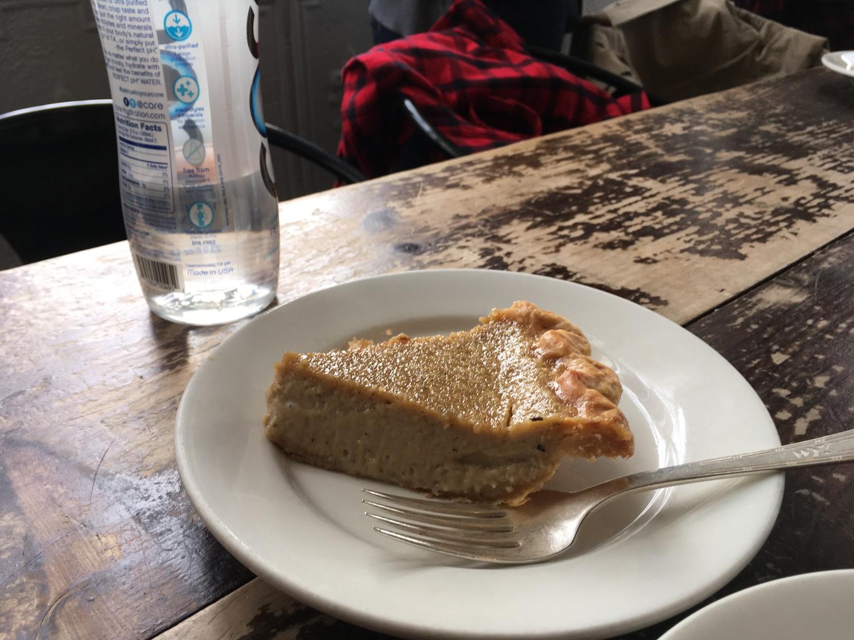 Hojicha Custard Pie