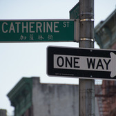 Street sign in Chinatown, New York City