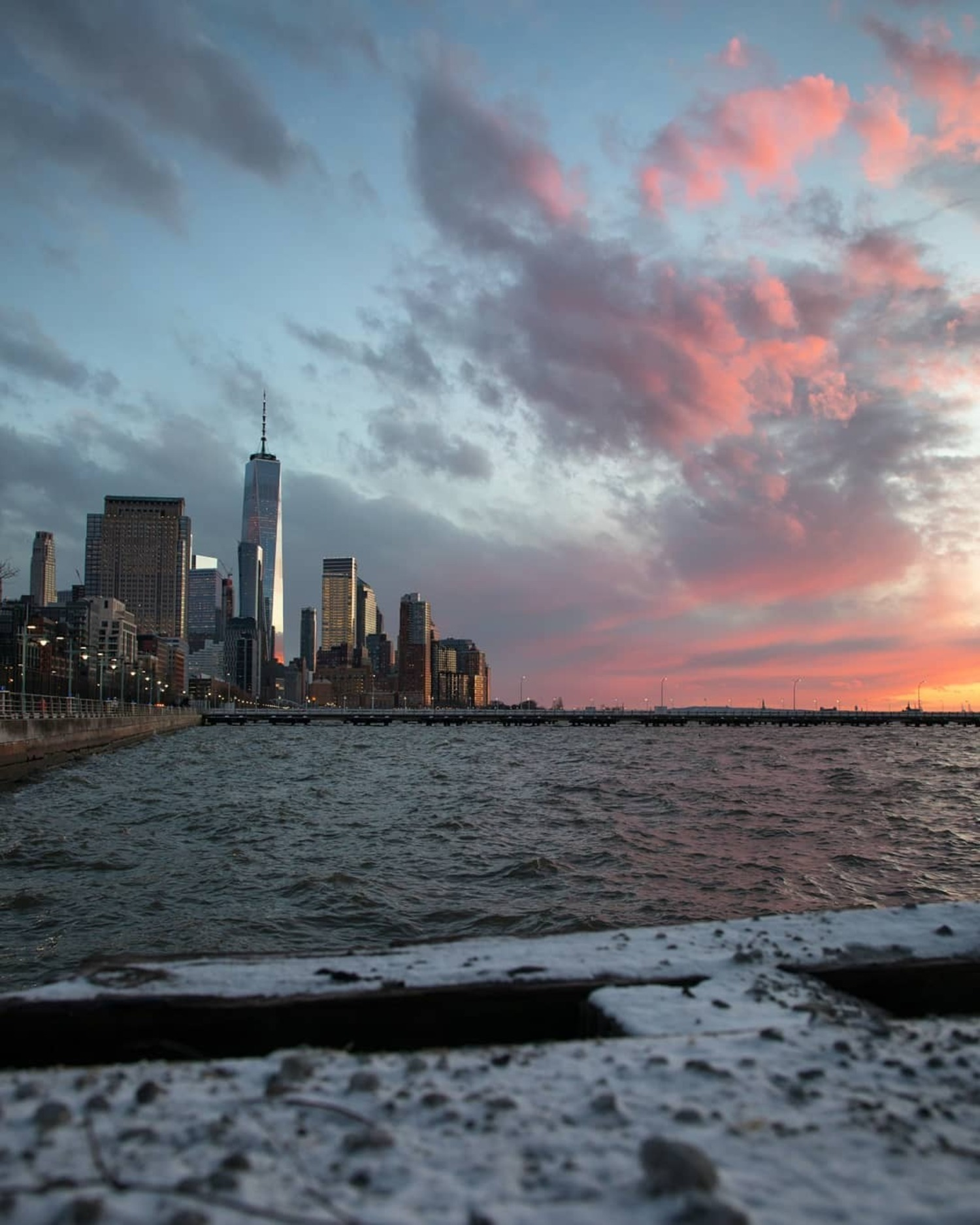 Hudson River and Lower Manhattan from Hudson River Park