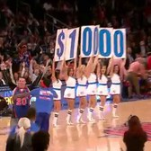 New York Knicks Fan Hits Half-Court Shot! for $10,000!