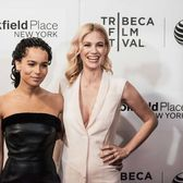 "Zoe Kravitz (left) and January Jones at the premiere of ""Good Kill"" during the Tribeca Film Festival at BMCC Tribeca PAC on April 19, 2015, in Manhattan."