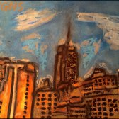Places I've Been: New York City Random Buildings (Oil Pastel/Marker Speedart)
