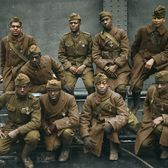 Harlem Hellfighters back from WWI, wearing the Cross of War medals, 1919.