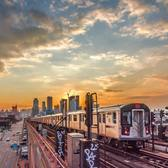 7 train approaching the 40th Street Station yesterday in Sunnyside, Queens, New York City