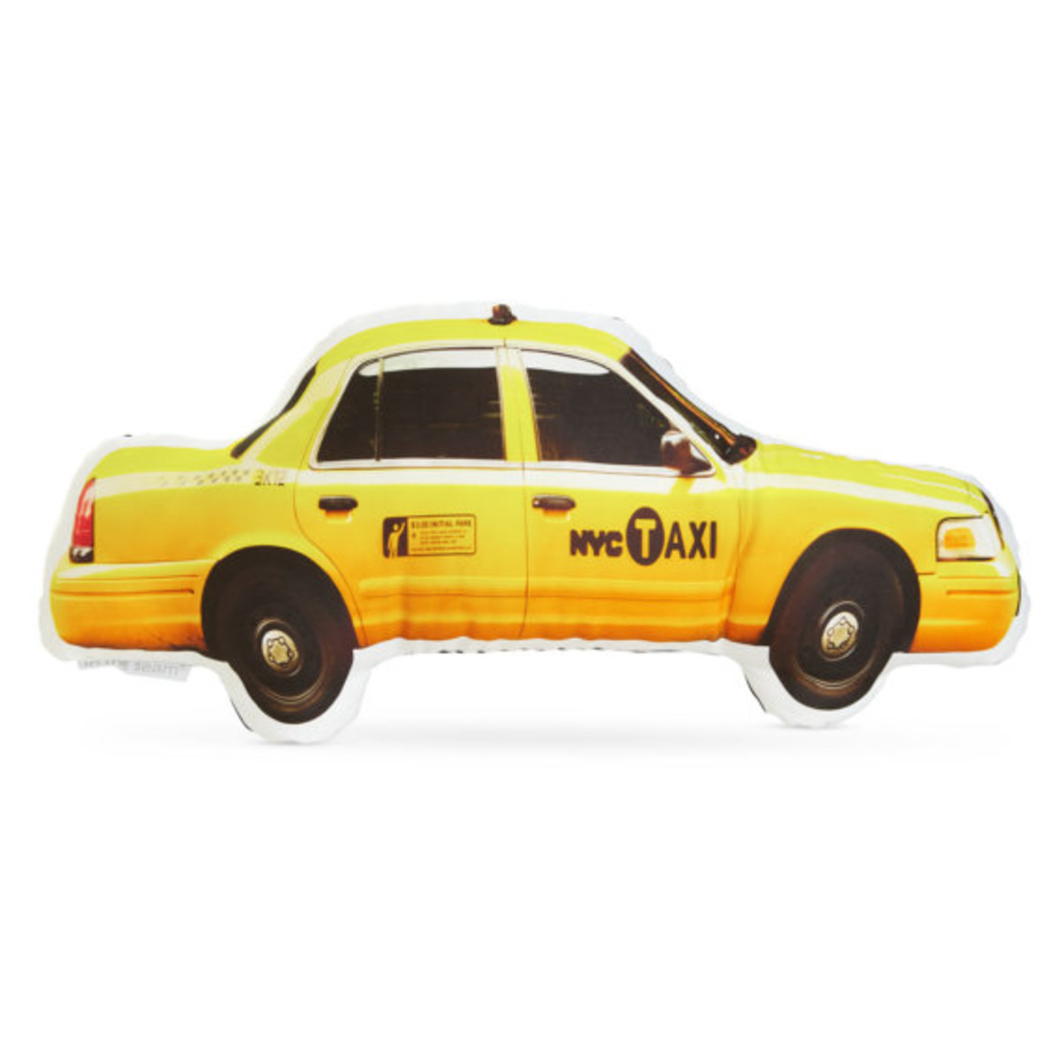 NYC Yellow Cab Taxi Printed Pillow