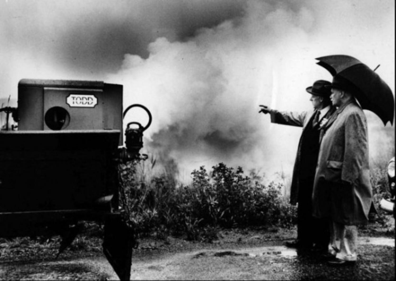Staten Island fog machine in 1949