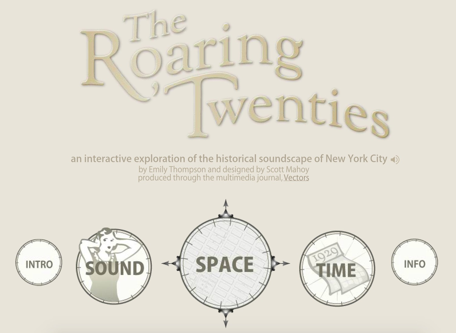 The Roaring Twenties, an Interactive Exploration of the Historical Soundscape of New York City