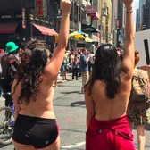 What I learned marching topless through New York City