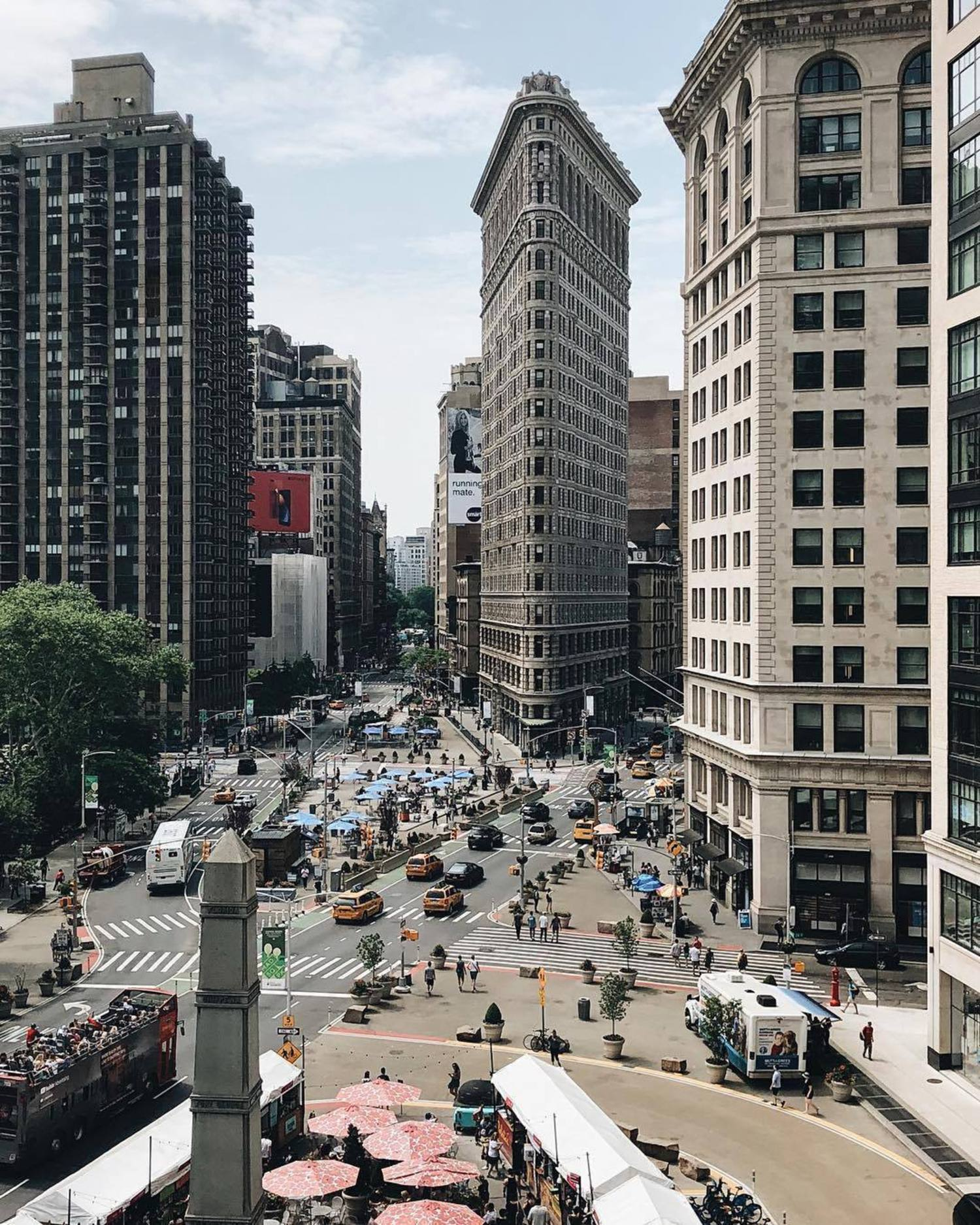Flatiron Building, Manhattan. Photo via @iwyndt #viewingnyc #newyork #newyorkcity #nyc #flatironbuilding