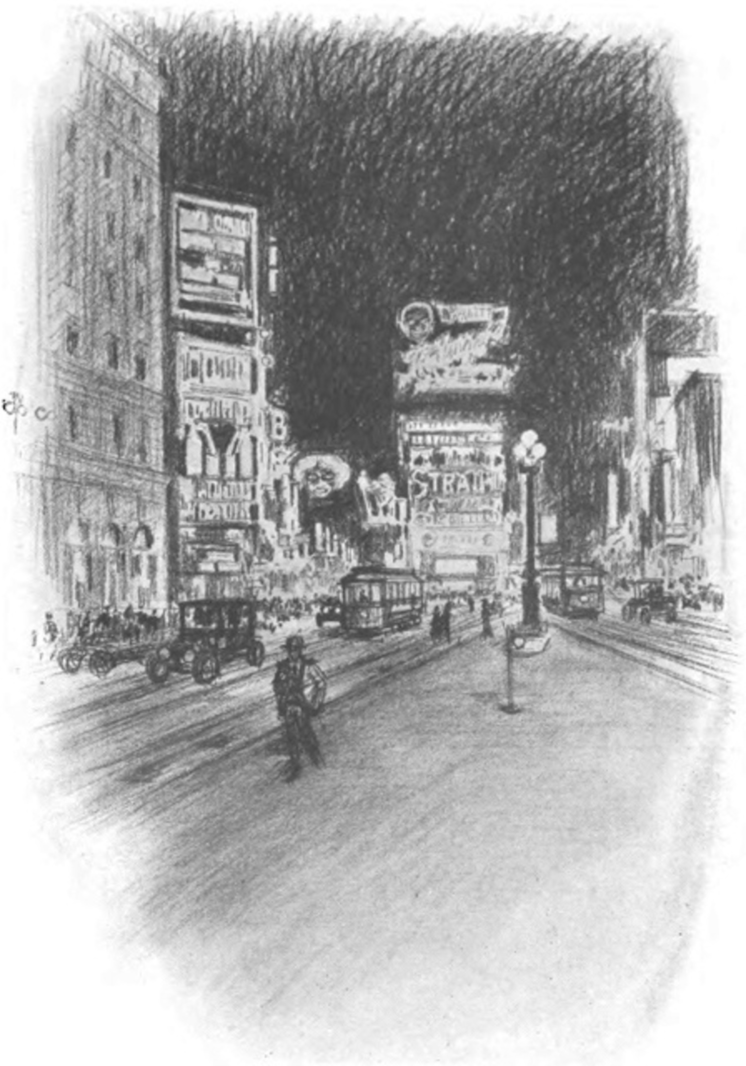 """The Lights of Broadway."" Thirty Years of New York, 1882-1912: New York Edison Company (1913)"