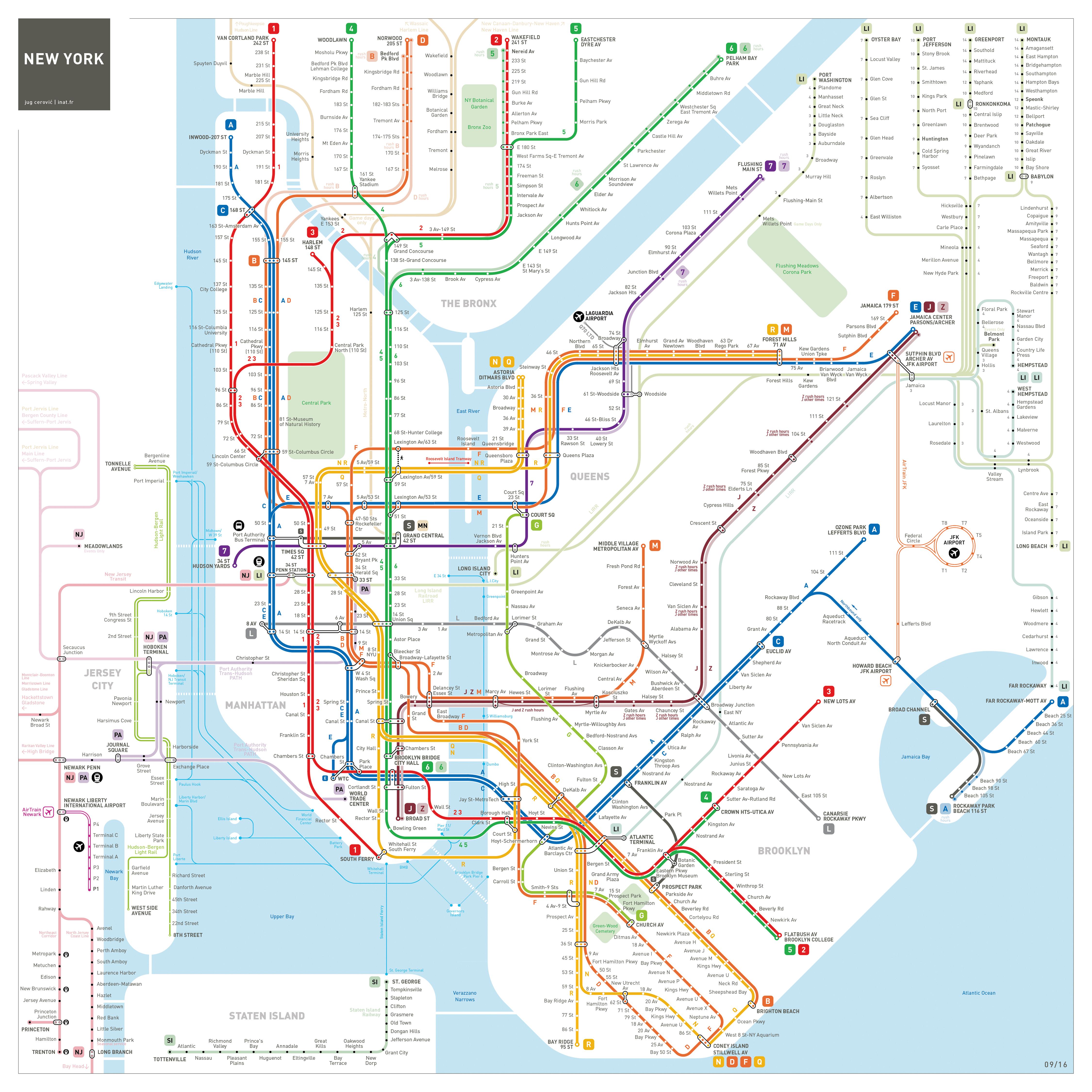 NEW YORK CITY SUBWAY MAP | Viewing NYC