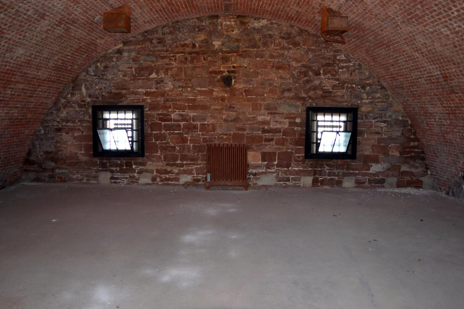 Casemate inside of Castle Williams | Originally used to house cannon, it held Confederate soldiers during the Civil War, and then used as a military prison for members of the Army who were AWOL or committed other military crimes.