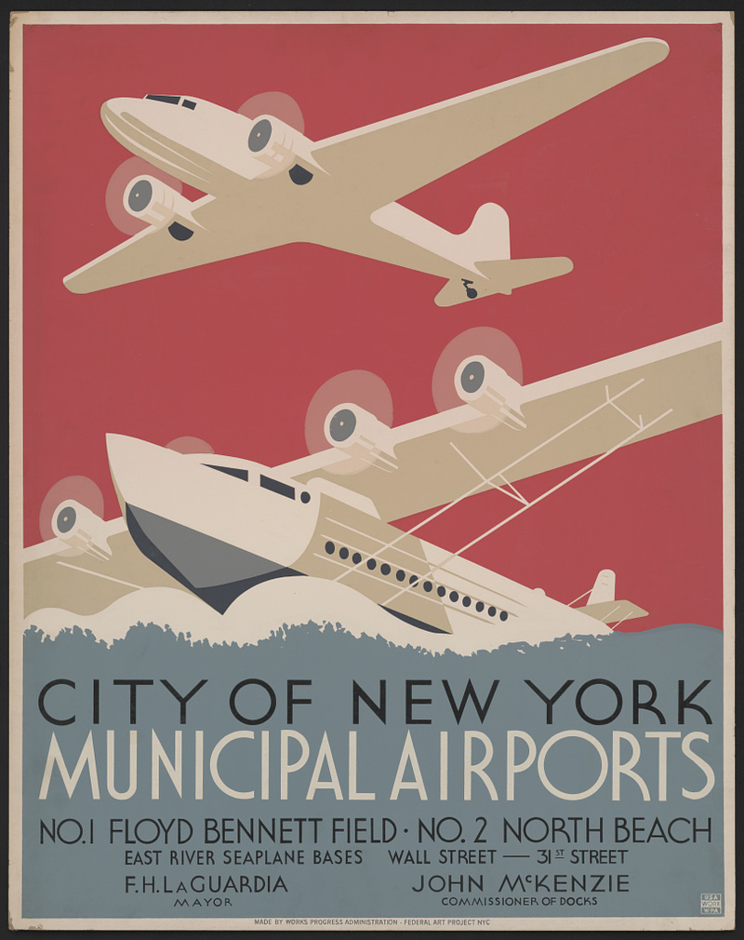 A 1930s-era poster for Floyd Bennett Field