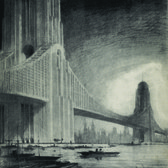 """The famed architect Raymond Hood's 1925 Skyscraper Bridges were designed to """"reduce crowding while providing a unique, water-focused lifestyle."""""""