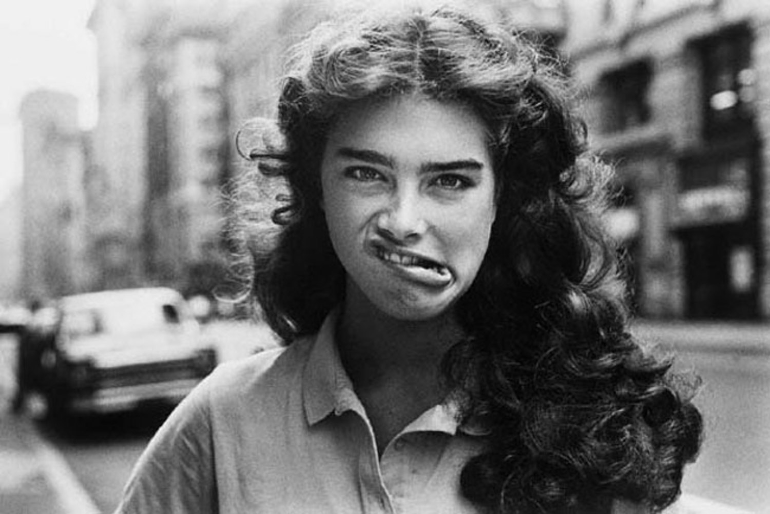 Brooke Shields on the street. NYC, 1981