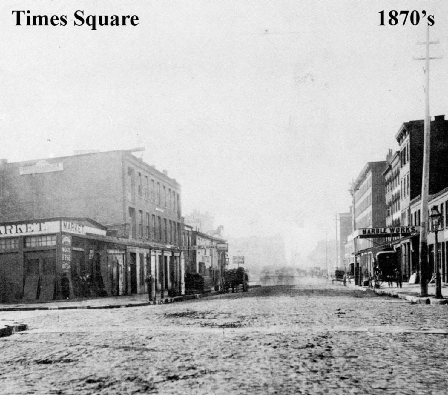 """Longacre Square (renamed to """"Times Square"""" in 1904) circa 1870's"""